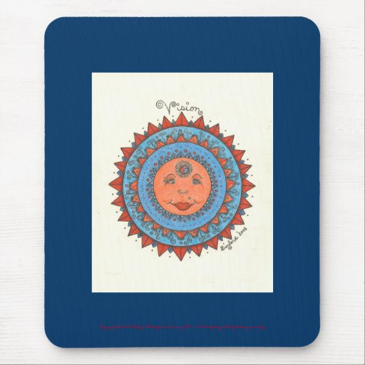 Vision - Mousepad (azul marino) Alfombrilla De Raton
