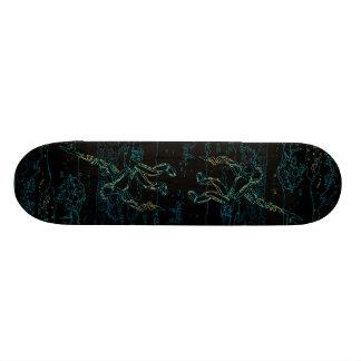 Visión nocturna - monopatín extraño del personaliz skate board