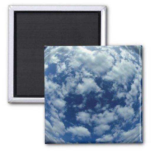 Visión nublada imán cuadrado