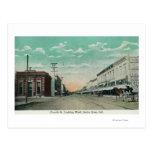 Visión occidental desde cuarta StreetSanta Rosa, C Tarjetas Postales