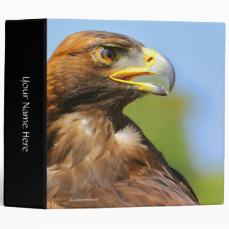 Vision of a Beautiful Young Golden Eagle 3 Ring Binder