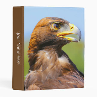 Vision of a Beautiful Young Golden Eagle Mini Binder