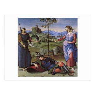 Vision of a Knight, Raphael Postcard