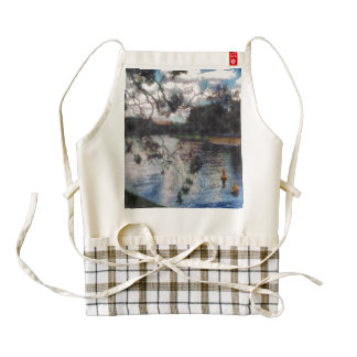 Vision of a river zazzle HEART apron