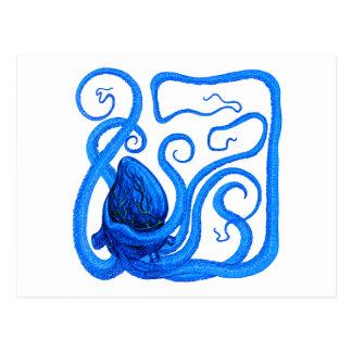 VISION OF BLUE POSTCARD