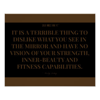 Vision of Fitness Quote: Black and Brown Print