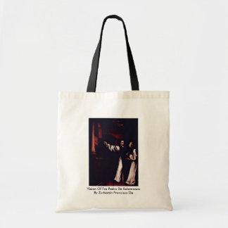 Vision Of Fra Pedro De Salamanca Canvas Bags