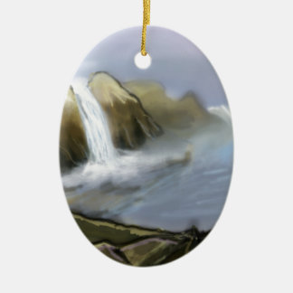 Vision of sea water ceramic ornament