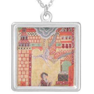 Vision of St. Aldegonde of Maubeuge Square Pendant Necklace