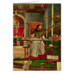 Vision of St. Augustine, 1502-08 Greeting Card