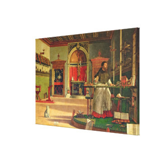 Vision of St. Augustine, 1502-08 (oil on canvas) ( Canvas Print