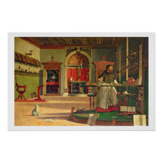 Vision of St. Augustine, 1502-08 (oil on canvas) ( Posters