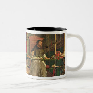 Vision of St. Augustine, 1502-08 (oil on canvas) ( Two-Tone Coffee Mug