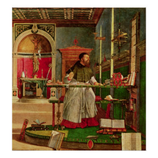 Vision of St. Augustine, 1502-08 Poster