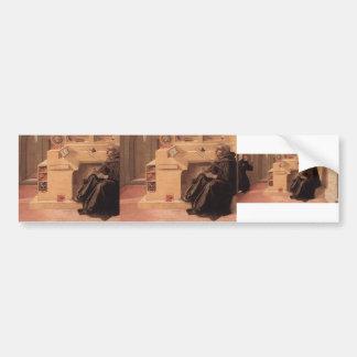 Vision of St. Augustine by Filippo Lippi Bumper Stickers