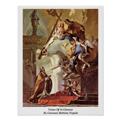 Vision Of St.Clement By Giovanni Battista Tiepolo Posters