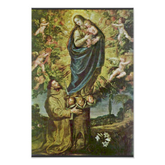 Vision Of St. Francis By Carducho Vicente Poster