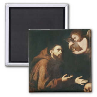 Vision of St. Francis of Assisi 2 Inch Square Magnet