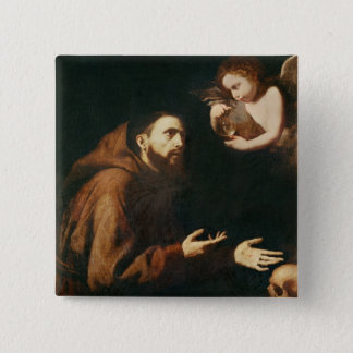 Vision of St. Francis of Assisi Button