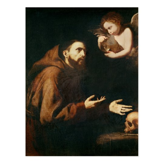 Vision of St. Francis of Assisi Postcard