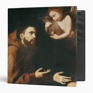 Vision of St. Francis of Assisi Vinyl Binder