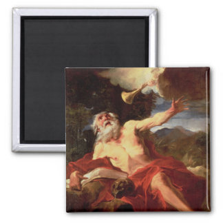 Vision of St. Jerome 2 Inch Square Magnet