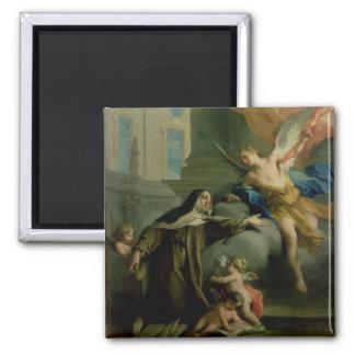 Vision of St. Teresa 2 Inch Square Magnet