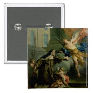 Vision of St. Teresa Pinback Button