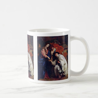 Vision Of The Blessed Hermann Joseph Coffee Mugs