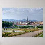 Visión panorámica sobre Viena Austria del Póster