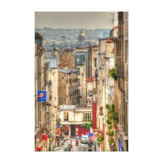 Visión parisiense lienzo envuelto para galerías