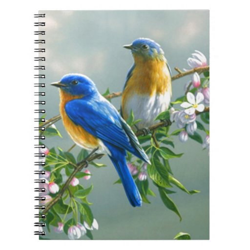 visión-pintura-flor-pájaro-animal-mesa-l libreta espiral