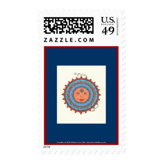 Vision - Postage Stamp (dark blue)