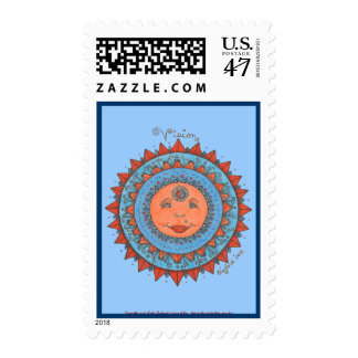 Vision - Postage Stamp (light blue)