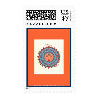 Vision - Postage Stamp (light orange)