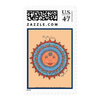 Vision - Postage Stamp (peach)