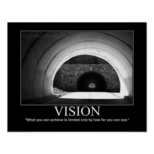 vision poster tunnel motivational zazzle
