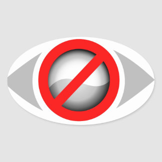 Vision Restricted graphic Oval Sticker