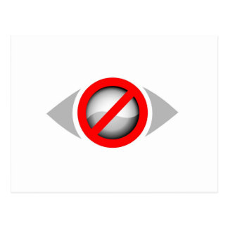 Vision Restricted graphic Postcard