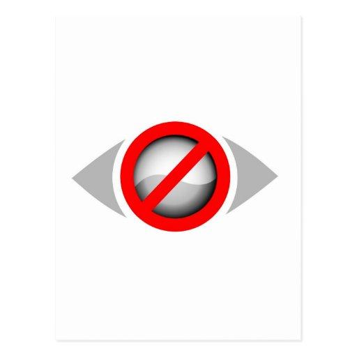 Vision restringió el gráfico tarjetas postales