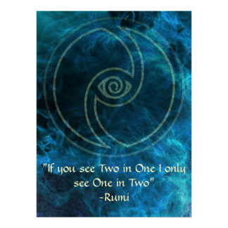 Vision-Rumi and Poetic Art Poster