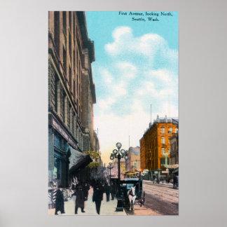 Visión septentrional desde la primera avenida póster