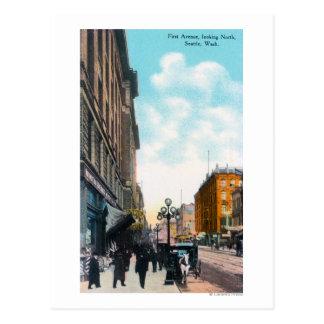 Visión septentrional desde la primera avenida tarjeta postal