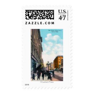 Visión septentrional desde la primera avenida timbre postal