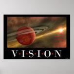 Vision sin la acción es un ensueño poster