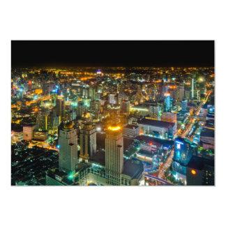 """Visión sobre Bangkok en la noche de la torre II de Invitación 5"""" X 7"""""""