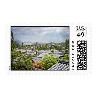 Visión sobre el pueblo de Miyajima Franqueo