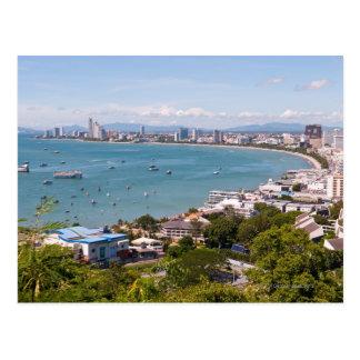 Visión sobre la bahía de Pattaya Postal