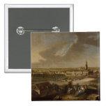 Visión sobre Potsdam de Brauhausberg, 1772 Pin Cuadrado