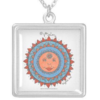 Vision - Square necklace white